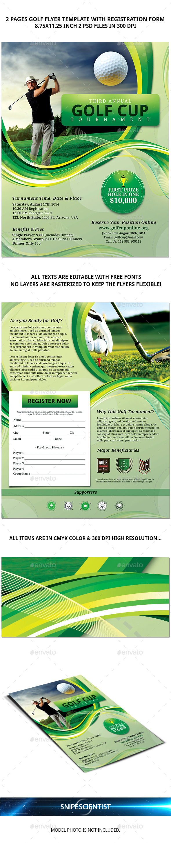 This gives sponsors and teams a. Golf Flyer Template With Registration Form Flyer Templates