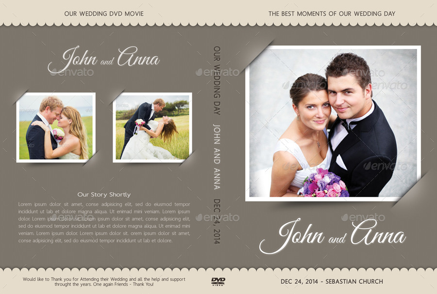 6 In 1 Wedding DVD Cover Disc Label Bundle By Rapidgraf GraphicRiver