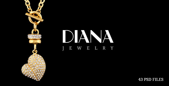 Diana Creative Jewelry PSD Template By Diadea3007