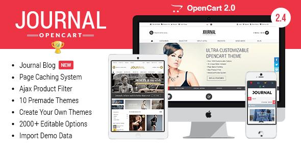Journal - Advanced Opencart Theme Framework - OpenCart eCommerce journal - 01 cover - Journal – Advanced Opencart Theme Framework v. 2.4.7 — FEB 19 2015