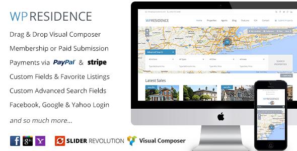 WP Residence - Real Estate WordPress Theme - Real Estate WordPress