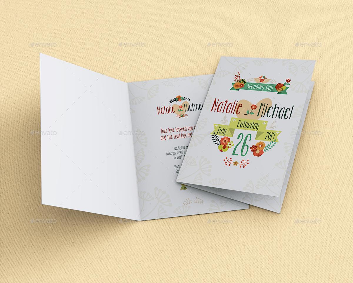 Invitation Amp Greeting Card Mockup By Goner13 GraphicRiver