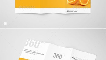 GraphicRiver - Tri-Fold Brochure Mock-Up Kit - Heroturko