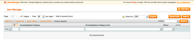 Knowledge Base Manager - 2