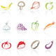 Download fruit and vegetable icons from GraphicRiver