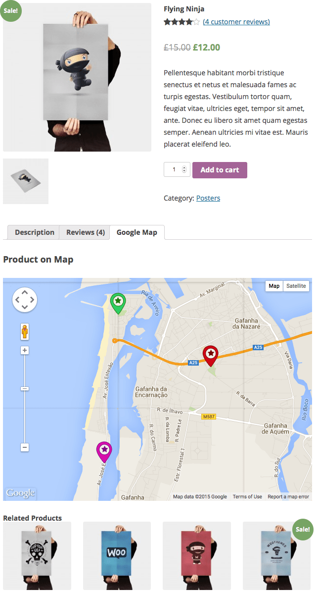 WooCommerce Maps Store Locator