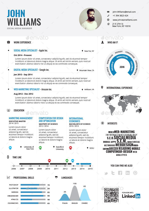 Infographic Resume Bundle By Paolo6180 GraphicRiver