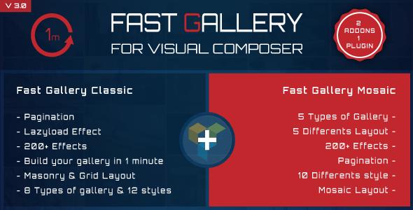 Fast Gallery v3.0 for Visual Composer WordPress Plugin