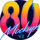 Download 80's Style Text Mockups V2 from GraphicRiver