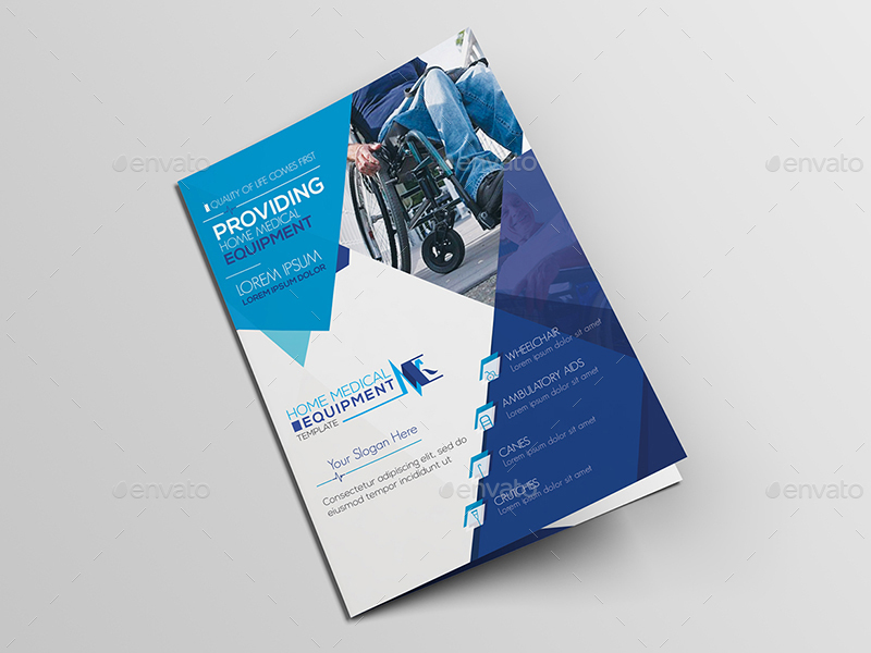 Home Medical Equipment A5 Brochure Template By Wutip2 GraphicRiver
