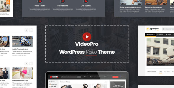 VideoPro v1.3.1 – Responsive Video WordPress Theme