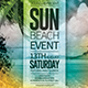 Download Summer Beach Event Flyer from GraphicRiver