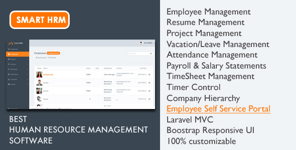smart hrm project management payroll attendance timesheet