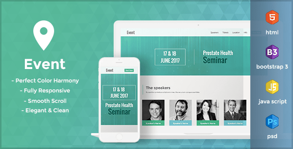 Event - One Page HTML Template - TOP WEBINARS