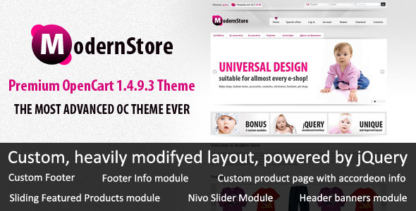 ModernStore - Premium OpenCart 1.4.9.3 theme - ThemeForest Item for Sale
