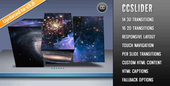 CCSlider - jQuery 3d Slideshow Plugin - CodeCanyon Item for Sale