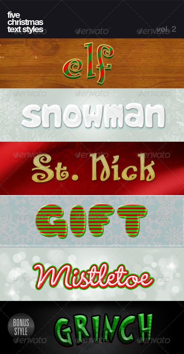 Christmas Text Styles Vol.2