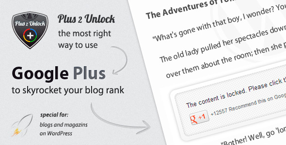 Plus One 2 Unlock for Wordpress - CodeCanyon Item for Sale