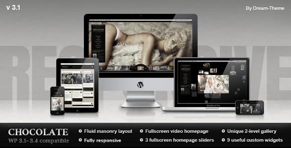 Chocolate WP – Responsive Photography Theme - ThemeForest Item for Sale