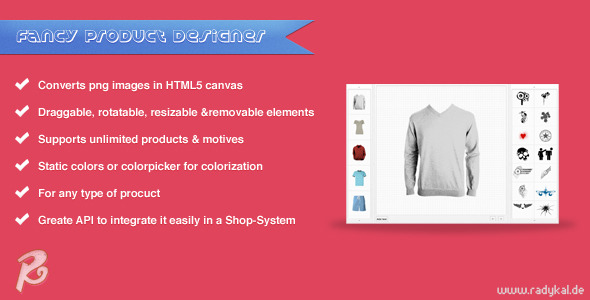 Fancy Product Designer - jQuery plugin - CodeCanyon Item for Sale