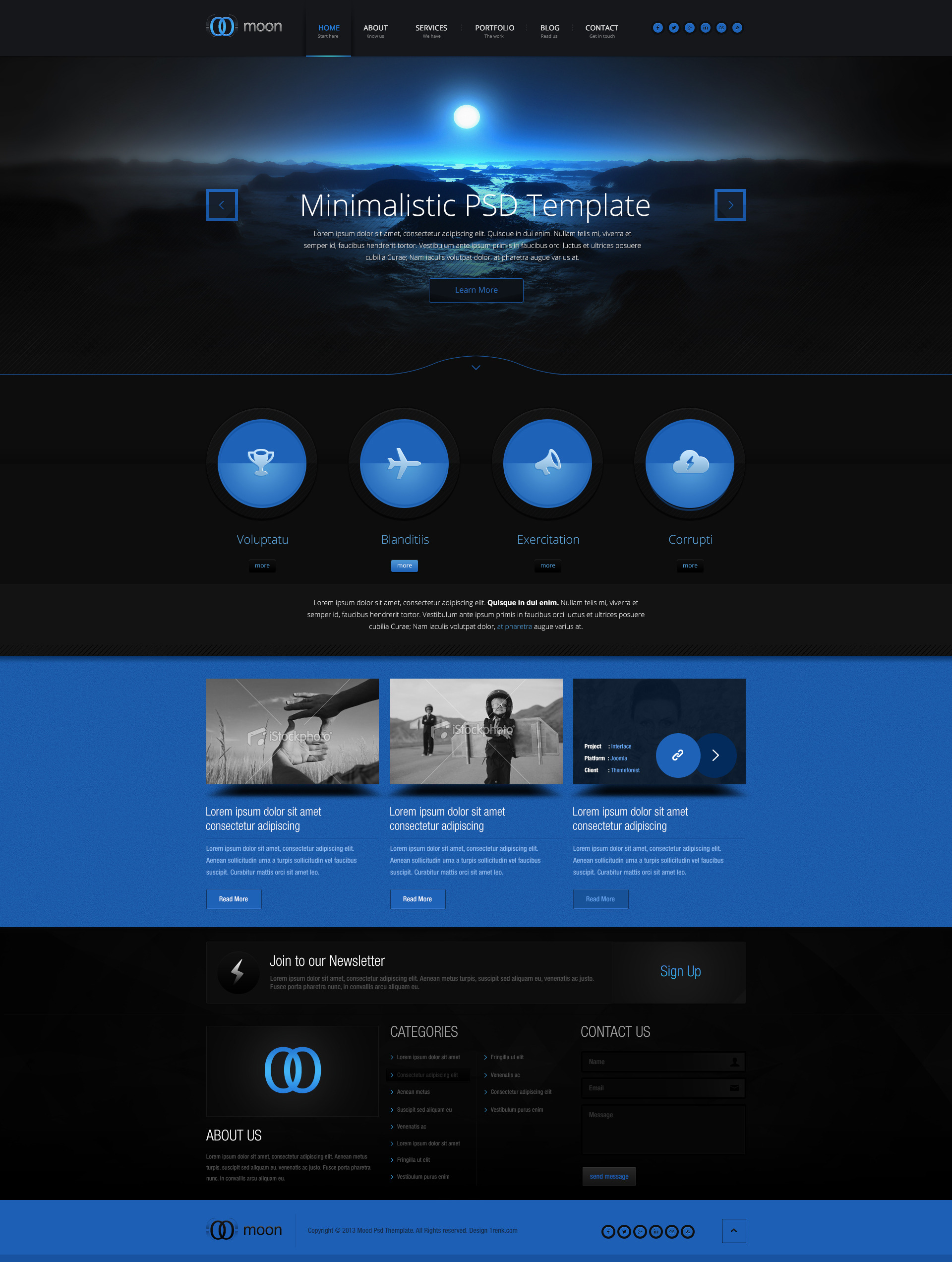 Moon Psd Template By Cakirx