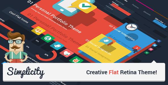 Simplicity v1.7 – Creative Flat Retina WordPress Theme