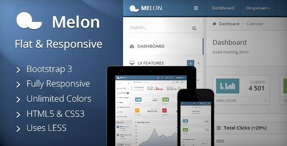 Melon – Flat & Responsive Admin Template - Admin Templates Site Templates