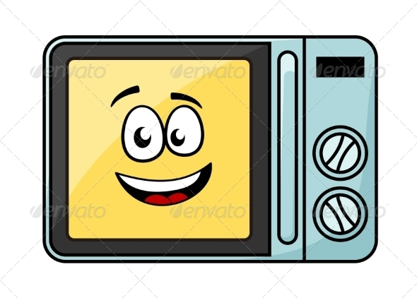 Cartoon Dirty Microwave