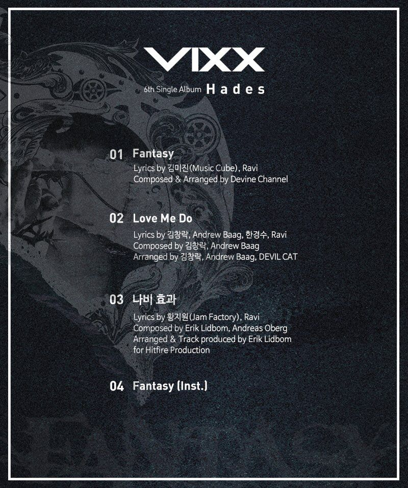 VIXX track list