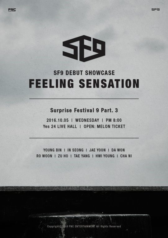 sf9 debut showcase feeling sensation
