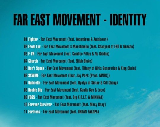 far east movement identity tracklist