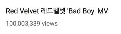 """- Red Velvet2 - Red Velvet's """"Bad Boy"""" Becomes Their third MV To Reach 100 Million Views  - Red Velvet2 - Red Velvet's """"Bad Boy"""" Becomes Their third MV To Reach 100 Million Views"""