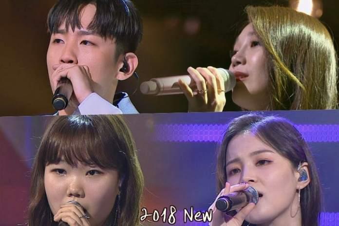 "- jung eun ji hanhae lee soo hyun lee hi sugar man 2 - Watch: Apink's Jung Eun Ji And Hanhae + Akdong Musician's Lee Soo Hyun And Lee Hi Perform Duets On ""Sugar Man 2""  - jung eun ji hanhae lee soo hyun lee hi sugar man 2 - Watch: Apink's Jung Eun Ji And Hanhae + Akdong Musician's Lee Soo Hyun And Lee Hi Perform Duets On ""Sugar Man 2"""