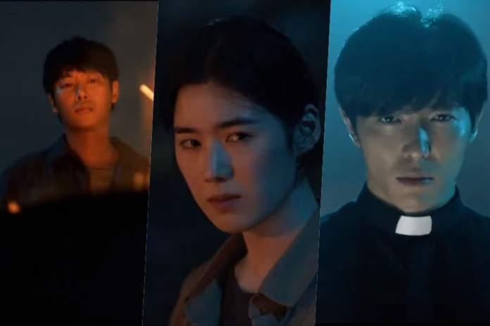 - Kim Dong Wook Jung Eun Chae Kim Jae Wook 1 - Watch: Kim Dong Wook, Jung Eun Chae, And Kim Jae Wook Face The Unknown In Dark Trailer For New Drama  - Kim Dong Wook Jung Eun Chae Kim Jae Wook 1 - Watch: Kim Dong Wook, Jung Eun Chae, And Kim Jae Wook Face The Unknown In Dark Trailer For New Drama
