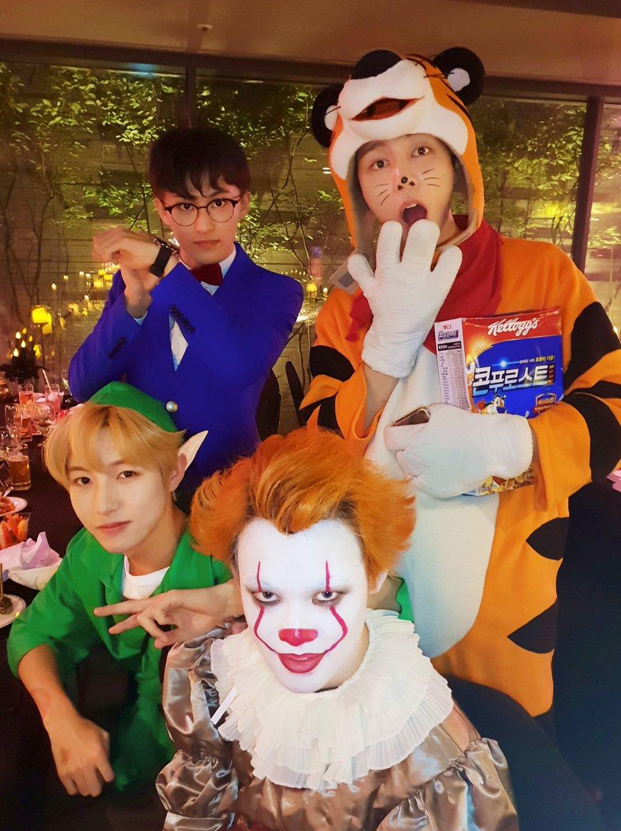 Jaemin sebagai kaito kid dan mark jadi conan, keduanya karakter dari anime detective conan. Sm Artists Amaze With Costumes Once Again At This Year S Halloween Party Soompi