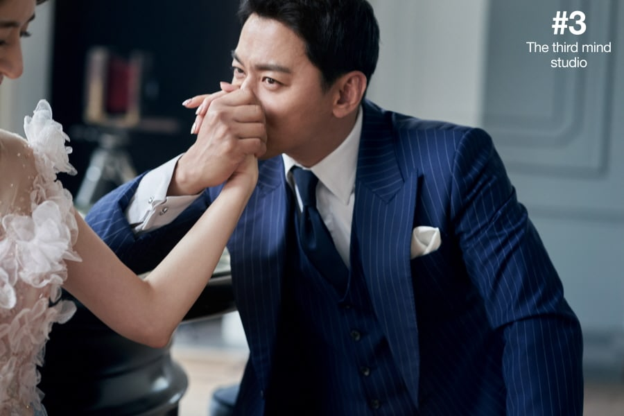 Joo Jin Mo And His Wife Are Glowing With Happiness In Beautiful Wedding Pictorial Soompi
