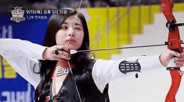 And Shooting Bow Arrow Girl