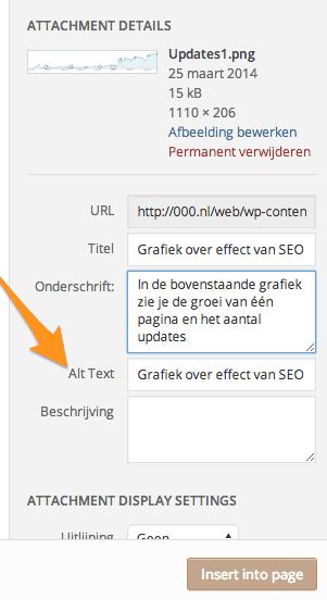 Alt tag aanpassen in WordPress