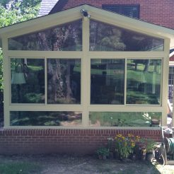 ALL SEASON VINYL SUNROOM WITH GABLE STYLE ROOF BY BETTERLIVING SUNROOMS & AWNINGS OF PITTSBURGH