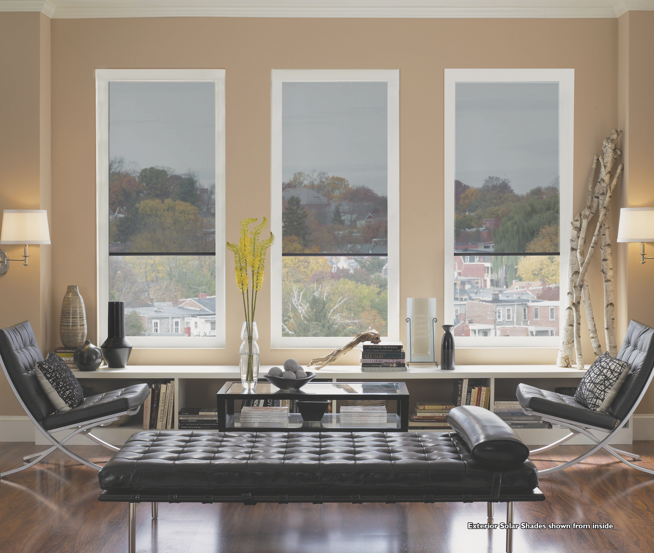 exterior solar shades by betterliving sunrooms awnings of pittsburgh - Better Living Patio Rooms