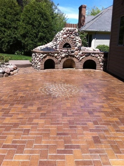 After Photo of Stone Oven and Patio
