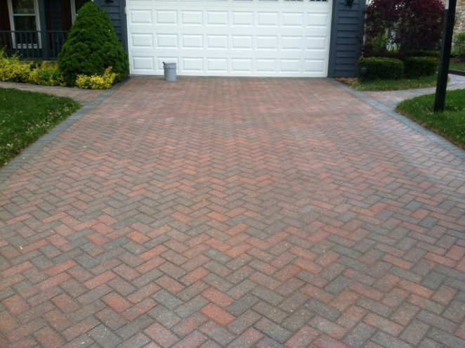 Before Photo of a Driveway