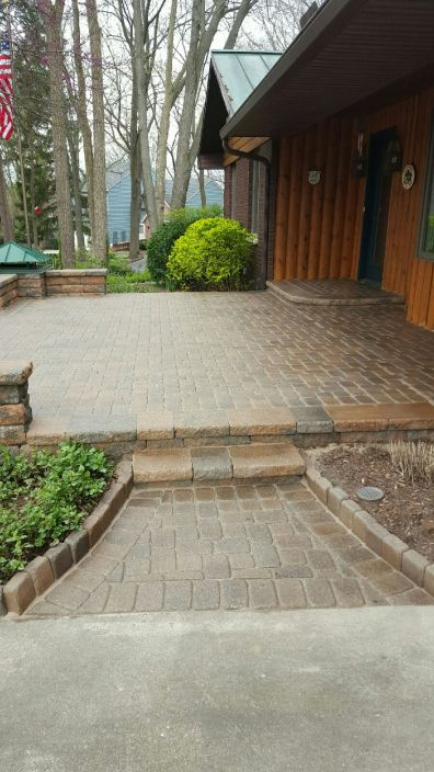 After Photo of Stone Walk Way with Step Up