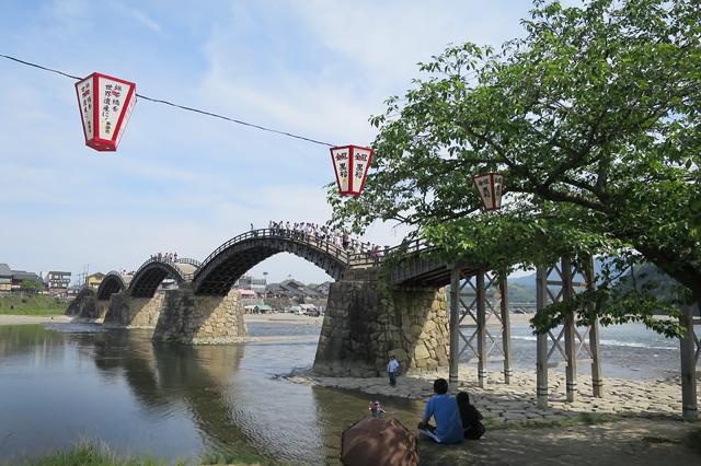 Iwakuni under the bridge