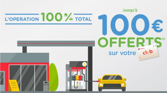 Total Direct Energie / Club Total : Offre 100€