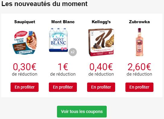 iGraal-Market-Coupon-Bon-Reduction-2021S31-Nouveaux - Saupiquet-Mont Blanc-Kellogs-Zubrowka