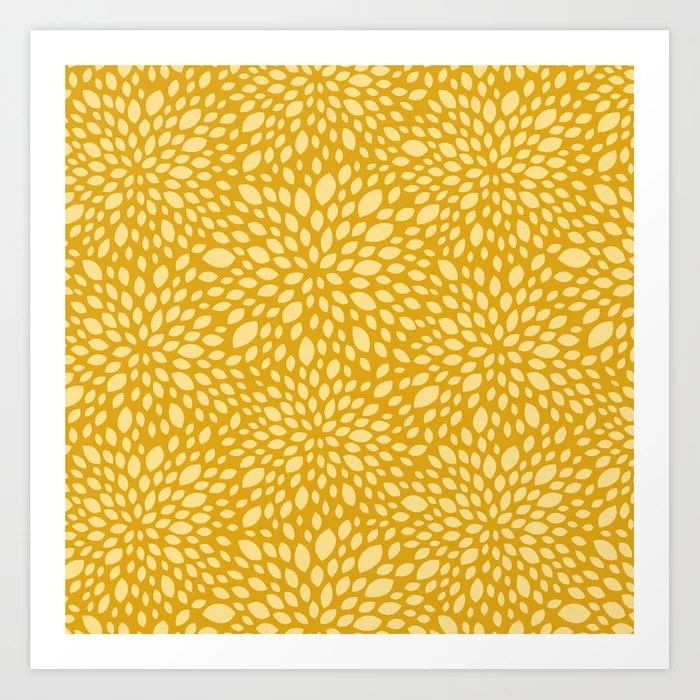 Sunday's Society6 | Yellow-gold summer floral pattern
