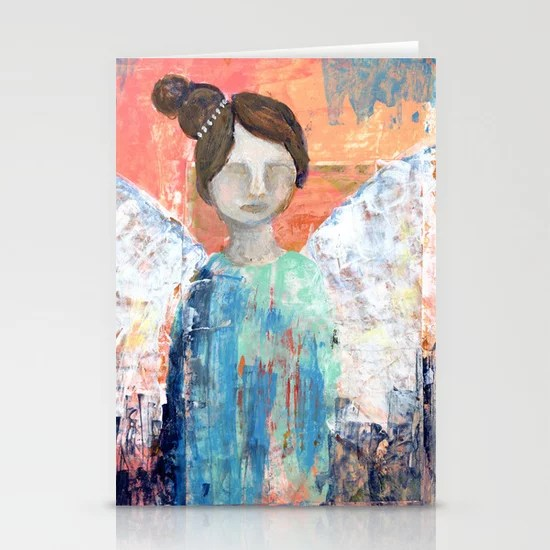 Spring Angel {2} Stationery Card