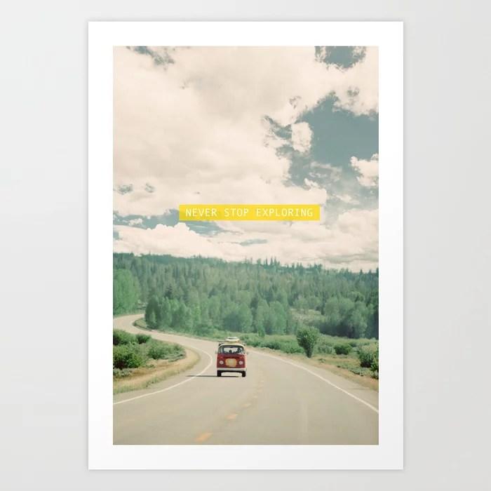Sunday's Society6 | Photo of vintage Volkswagen van with typography