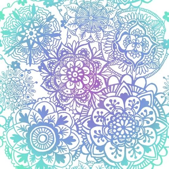 pastel mandala pattern art print design